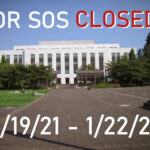 OR SOS Closure 1/19 – 1/22